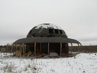 Дуговой купол с радиарием